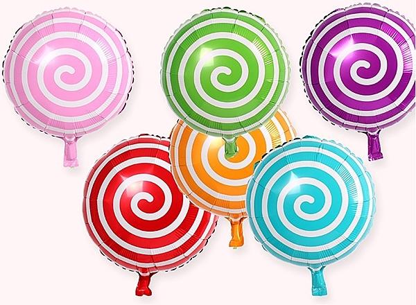 【協貿國際】圓形糖果棒棒糖鋁膜鋁箔氣球(10入)