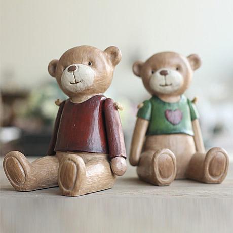 木偶熊兒童房創意禮物擺設 關節泰迪熊 2色選