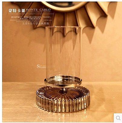 歐式水晶玻璃蠟燭台-NH215