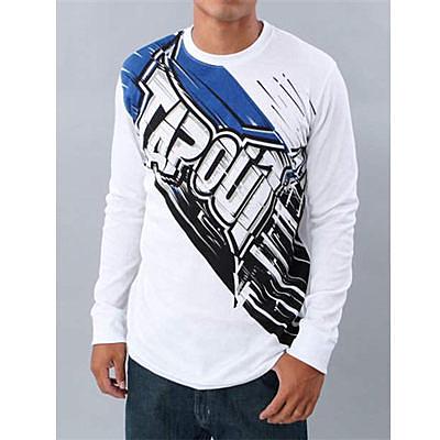 『摩達客』美國進口超人氣【Tapout】 Zapp 白色長袖T恤(10511023002)