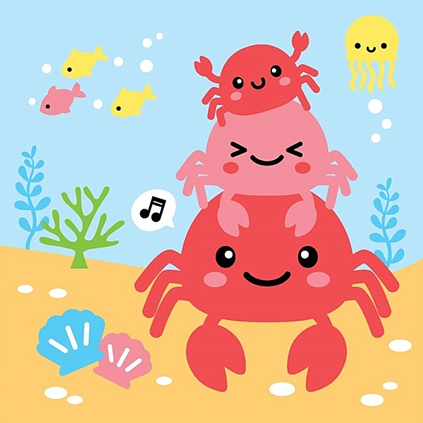 LOVIN 超萌韓版數字油畫 海洋系列可愛螃蟹(7) 1幅