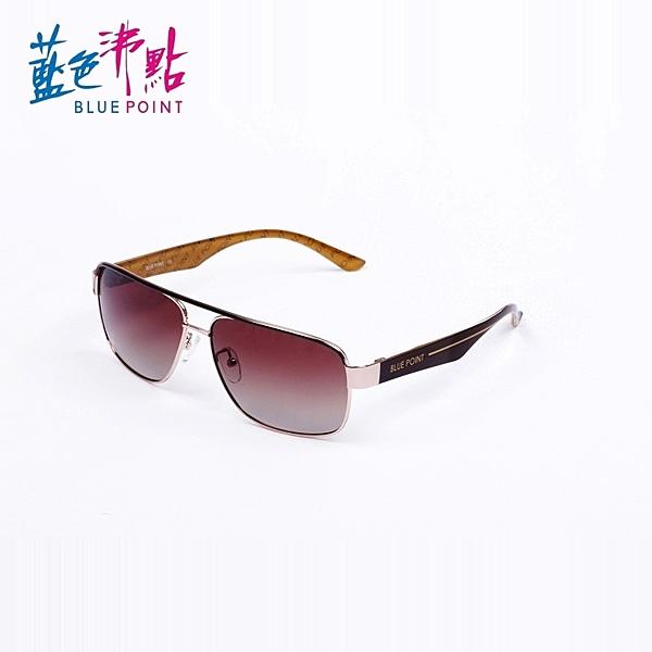 《FUTIS》BLUE POINT 藍色沸點 偏光太陽眼鏡 偏光鏡 抗UV400 防眩光反射光 B1003_C3 淡金