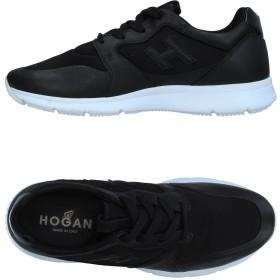 《セール開催中》HOGAN メンズ スニーカー&テニスシューズ(ローカット) ブラック 6 革 / 紡績繊維