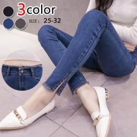 韓版の新型の弾力スリムの毛先の小さい足のジーンズの女長ズボンの秋冬の服は無料で発送します