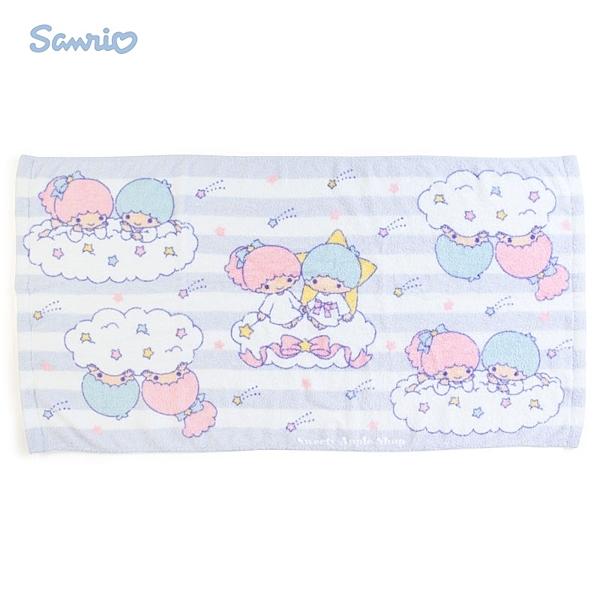 日本限定 三麗鷗 KIKI & LALA 雙子星 條紋星星 浴巾毛巾