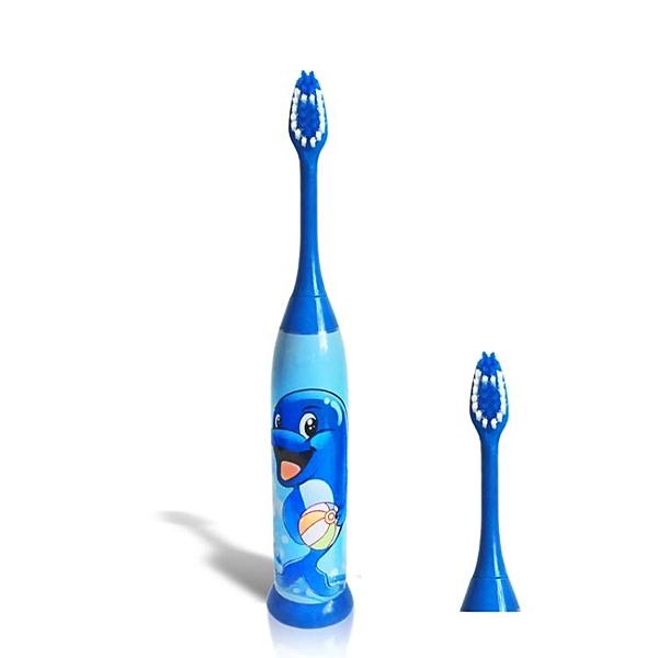 卡通兒童聲波震動電動牙刷適合5-16歲寶寶【萬聖夜來臨】