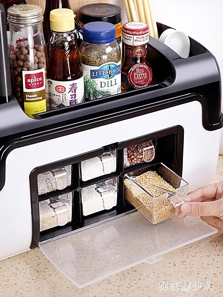 調味盒套裝廚房用品調料瓶用具小百貨調味罐佐料鹽組合收納盒家用PH4042【棉花糖伊人】