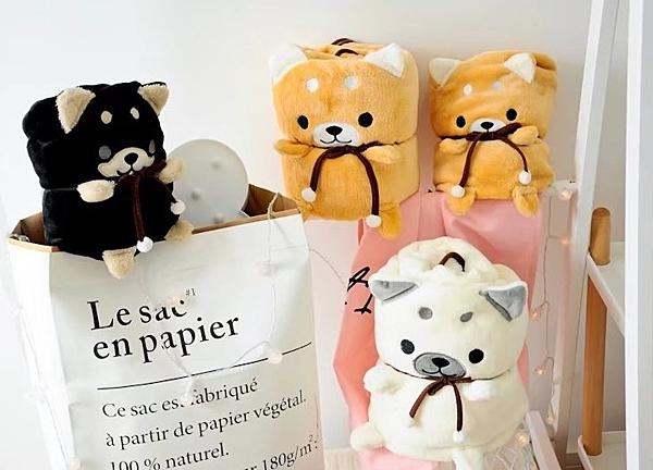【大款】創意仿真三色柴犬毯玩偶 午睡毯 兒童毯子 娃娃 聖誕節交換禮物 生日禮物 兒童節禮物