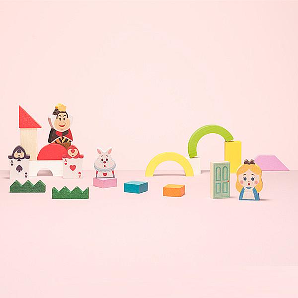 Disney KIDEA 迪士尼益智平衡積木 小木塊 愛麗絲夢遊仙境場景組