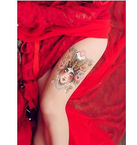 薇嘉雅  貴婦 環臂圖案紋身貼紙 AX65