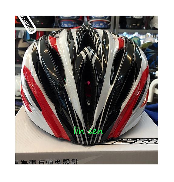 M2R自行車帽,腳踏車帽,MV-12,白紅