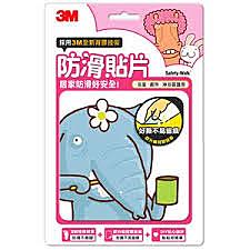 3M 防滑貼片-可愛動物 (六片裝) 浴室、陽台、廚房適用 讓您不腳滑 居家安全