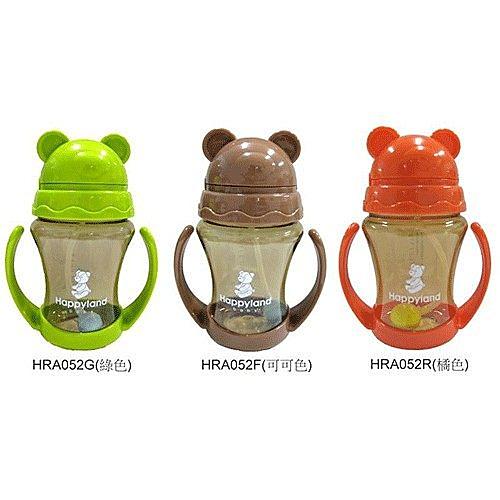 朴蜜兒Pomier-Tritan防脹氣十字孔自動吸管果汁杯(綠色/可可色/橘色)HRA052[衛立兒生活館]