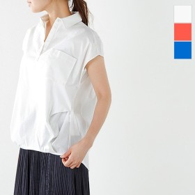CYAN シアン バックドレープコットンフレンチシャツ