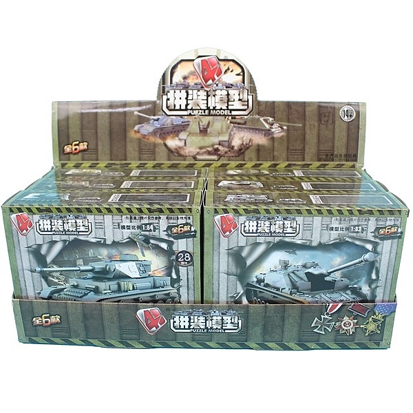 4D仿真坦克車模型 MM0597 DIY坦克模型(有6款)/一款入{促60} 戰車模型-睿MM0597