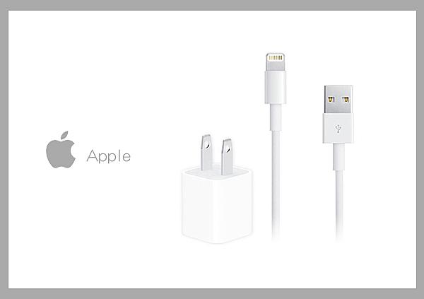Apple適用 5W USB 電源轉接器 + Lightning 8pin 1M 連接傳輸線組 (密封袋裝)