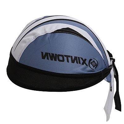 自行車頭巾 抗紫外線-銳劍藍海線條造型男女單車運動頭巾73fo67【時尚巴黎】