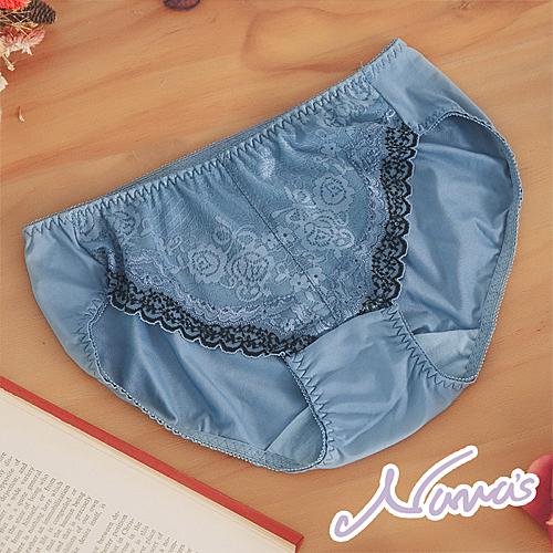 【露娜斯】幸福風采。貼身舒適三角女褲【藍】台灣製P27837