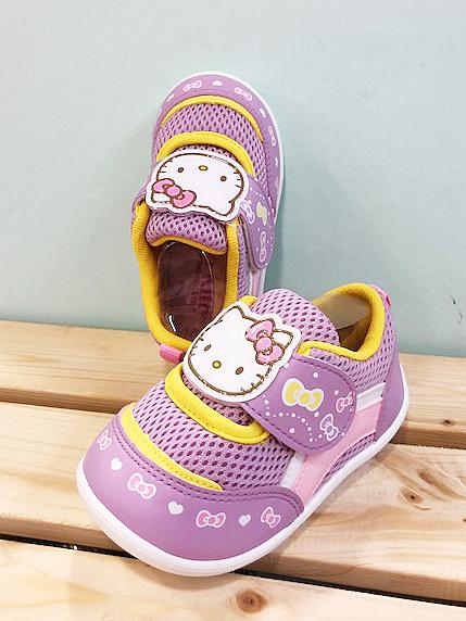 【震撼精品百貨】Hello Kitty 凱蒂貓~台灣製Hello kitty正版兒童透氣包鞋-紫大頭(13~16號)