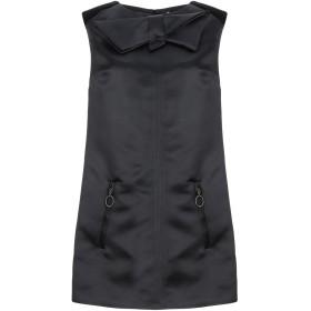 《セール開催中》ELISABETTA FRANCHI レディース ミニワンピース&ドレス ブラック 42 ポリエステル 100% / コットン