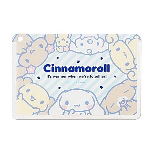 【震撼精品百貨】大耳狗 Cinnamoroll~Sanrio 大耳狗喜拿日本製燙金鑲飾卡片套(歡樂好朋友)#66252