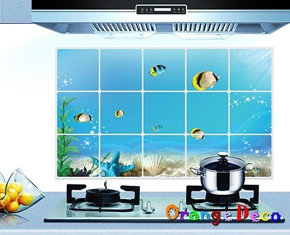 壁貼【橘果設計】防油貼 DIY組合壁貼 牆貼 壁紙 壁貼 室內設計 裝潢 壁貼