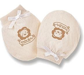 台灣製小獅王辛巴新生兒有機棉護手套~通過荷蘭CU國際有機認證/SGS顏料安全檢測-S5010