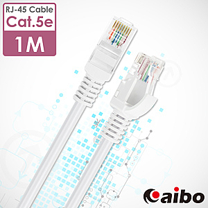 【aibo】Cat.5e RJ-45高速網路線-1M/2入1M/2入