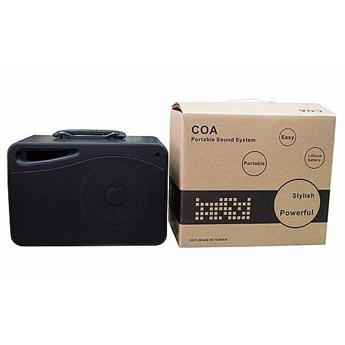 COA HC-806 攜帶式單頻無線擴音機(鋰電池充電版) 無線麥克風(手握或頭戴選一)