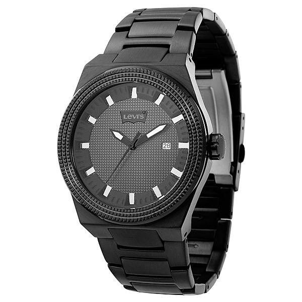 Levi's 格紋風暴時尚腕錶-黑