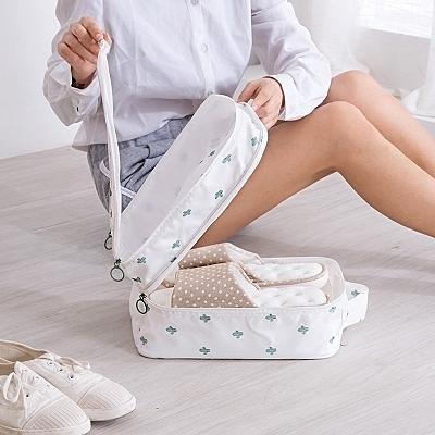 旅行出差鞋子收納袋裝鞋袋子鞋包運動防水防塵鞋罩防潮鞋袋收納包 露露日記