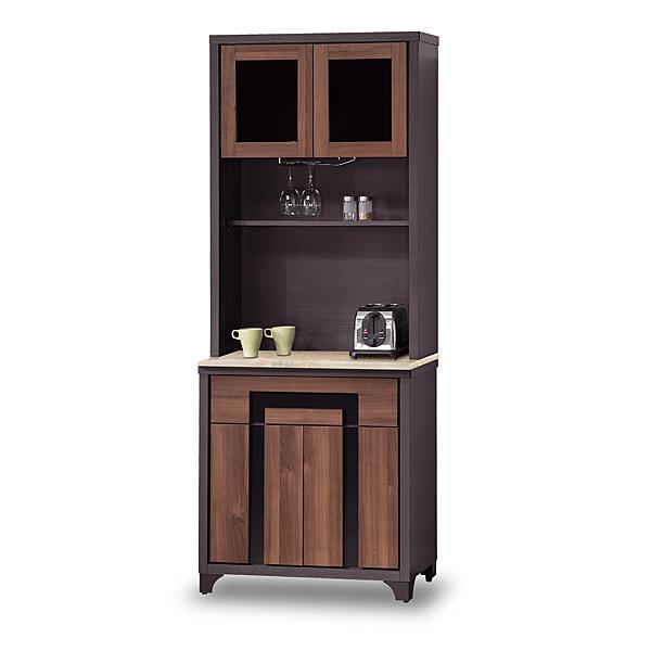 餐櫃【時尚屋】[G17]尼克絲鐵刀2.7尺石面碗盤櫃組G17-A290-1免組裝/免運費/餐櫃