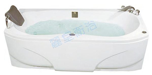 【麗室衛浴】BATHTUB WORLD 長型壓克力浴缸 LS-7182E 帶牆170*82*51cm