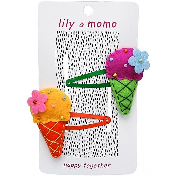 【美國 Lily & Momo】手工童趣髮飾- 冰淇淋聖代 #HCA084