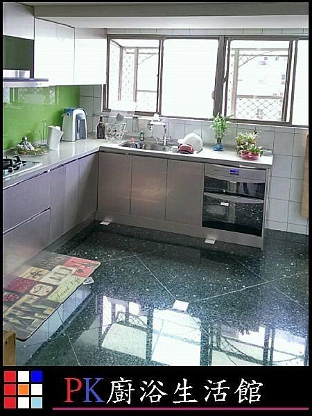 ❤PK廚浴生活館 ❤ 高雄 廚房歐化櫥具 L型上下櫥流理台水晶門板不鏽鋼桶身白鐵三抽LG台面電器櫃