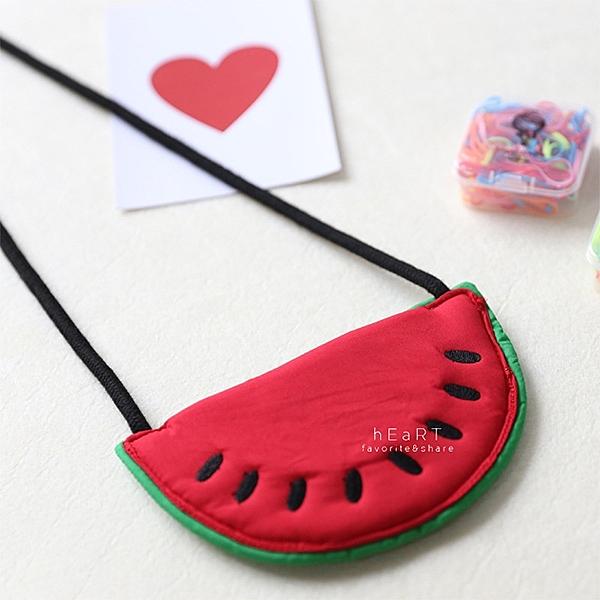 大紅西瓜造型斜背包 小包包 側背包