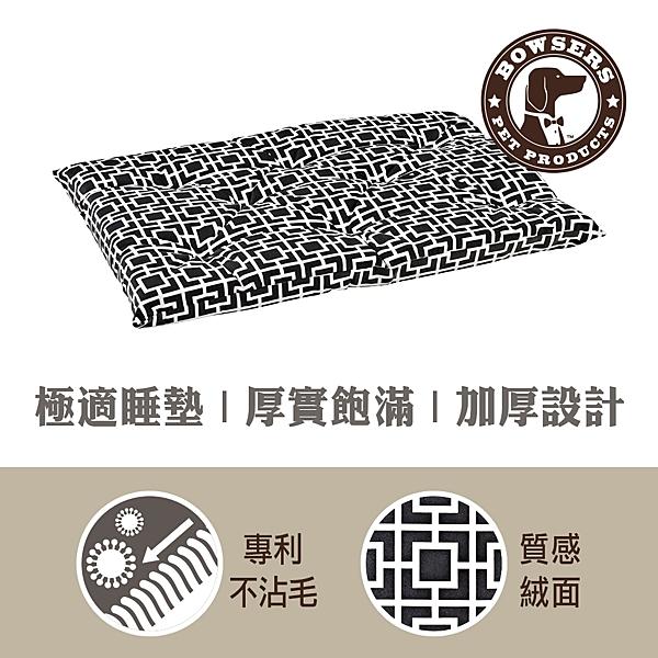 【SofyDOG】BOWSERS加厚極適寵物睡墊-極簡方格(灰)-XS