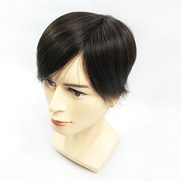 假髮片(真髮)-大面積補髮直髮15cm男假髮73vm32【時尚巴黎】