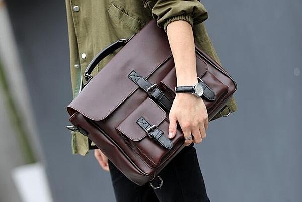 FINDSENSE品牌 韓國 新款  FIN韓國出品 包款 時尚 男士 單肩包 挎包 復古 大容量  公文包 潮流