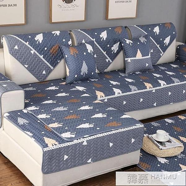 沙發墊四季通用布藝簡約現代防滑實木客廳防滑北歐純棉老粗布全棉  牛轉好運到