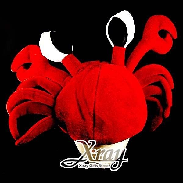 節慶王【W100131】動物造型帽-螃蟹,動物造型帽/魔術表演/園遊會/頭飾/慶生/尾牙/道具/派對用品