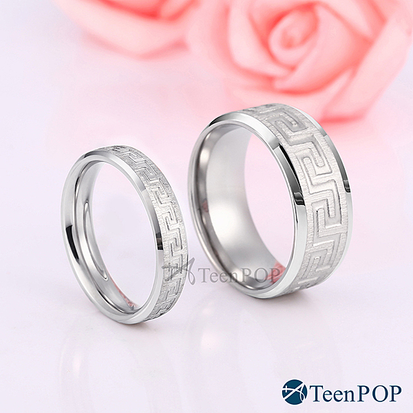 情侶對戒 ATeenPOP 情侶戒指 白鋼戒指 愛情回憶 單個價格 情人節禮物