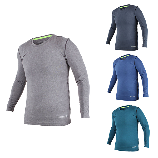 FIRESTAR 男機能緊身長袖上衣 (長T T恤 訓練 慢跑 路跑≡體院≡ N7908