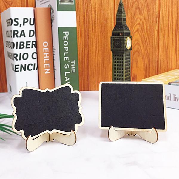 桌上型小黑板 留言板 裝飾 擺飾 木質黑板 婚禮小物 迷你黑板 辦公室小物 佈置 雜貨【葉子小舖】