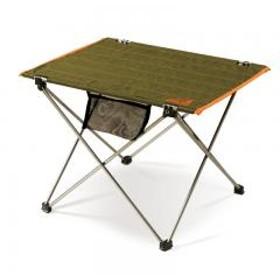 アウトドアマン アウトドアテーブル ロールアップアルミテーブル グリーン