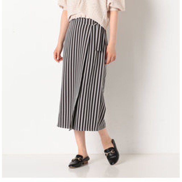 SALE開催中【archives:スカート】ストライプラップスカート