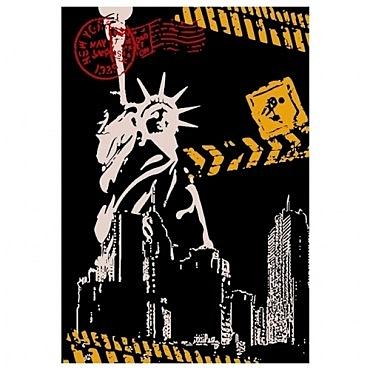 藝術紐約地毯40x120cm 自由女神