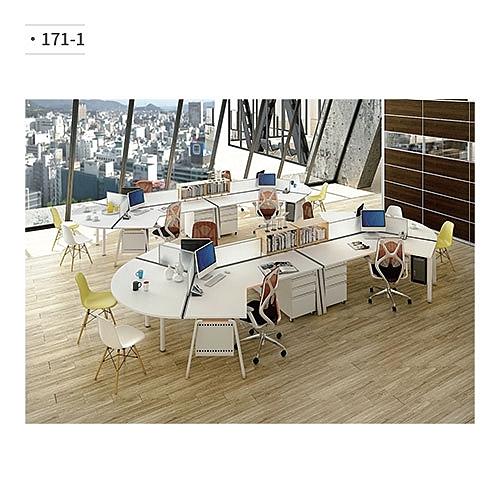 辦公桌/電腦桌 (隔間/鋁合金鋼腳) 171-1 (請來電詢價)