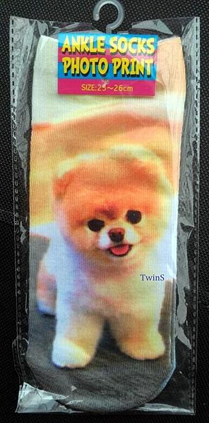 TwinS【元宿潮襪】3D數位寫真印花動物表情搞怪薄短襪【五花肉X光刺青..】FREE SIZE(23-26cm)