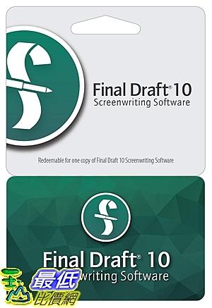 [7美國直購] 2018 amazon 亞馬遜暢銷軟體 Final Draft 10
